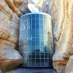 architecture rock glass