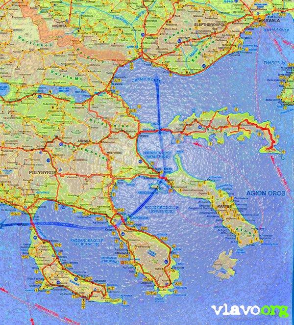Halkidiki map 4oLeg